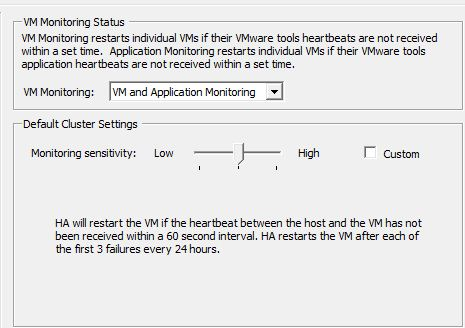 Be-Aware of VM Sleep mode when enabling VM Monitoring in HA/DRS